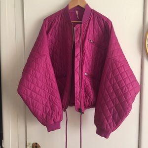 Free People quilted dolman bomber jacket s